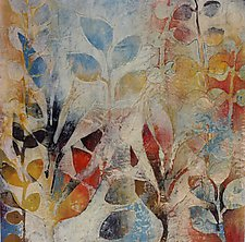 Garden Fragments A by Jody Hewitt Brimhall (Encaustic Painting)