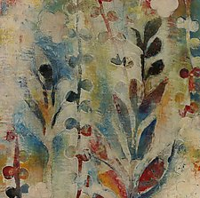 Garden Fragments B by Jody Hewitt Brimhall (Encaustic Painting)