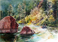 Autumn Float on the Green River by Terrece Beesley (Giclée Print)