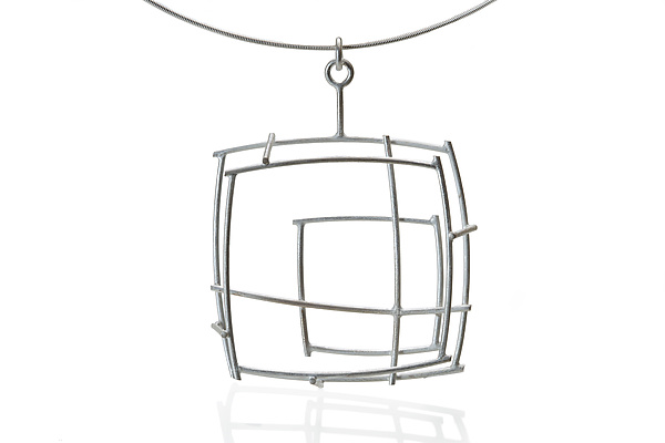 Small Structural Square Necklace