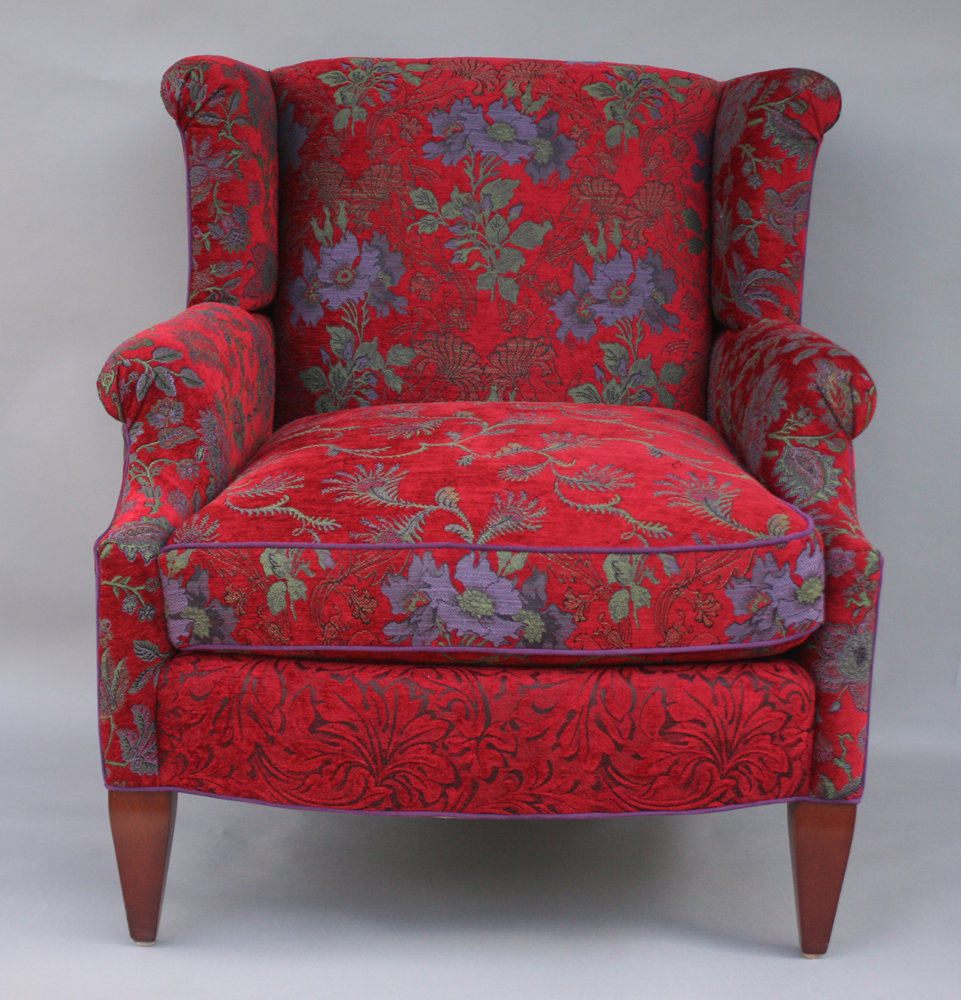 Isabel Chair In Poppy By Mary Lynn O Shea Upholstered Chair Artful Home