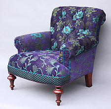 Middlebury Chair in Plum by Mary Lynn O'Shea (Upholstered Chair)