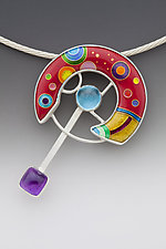 Space Station by Anna Tai (Enameled Necklace)