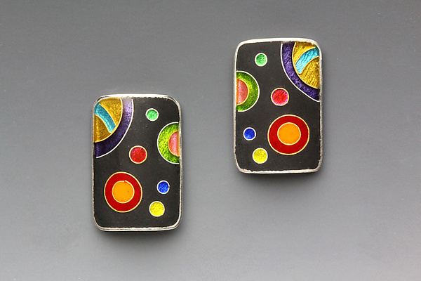Rectangular Galaxy Earrings