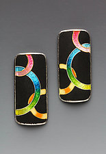 Rings Earrings by Anna Tai (Enameled Earrings)