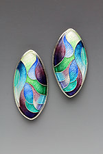 Waterfall Marquise Earrings by Anna Tai (Enameled Earrings)