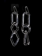 Clear GEO Earrings by Marna Clark (Art Glass Earrings)