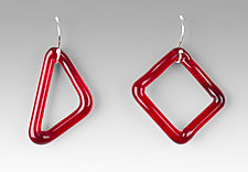 Single GEO Earrings by Marna Clark (Art Glass Earrings)