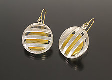 Pick-A-Boo Earrings by Sana  Doumet (Gold & Silver Earrings)