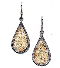 Pebble Teardrop Earring by Jenny Reeves (Gold & Silver Earrings)