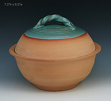 Bread Pot - Casserole 8 by Ron Mello (Ceramic Casserole)