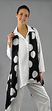 Black and White Bubble Silk Willow Vest by Michael Kane  (Silk Vest)