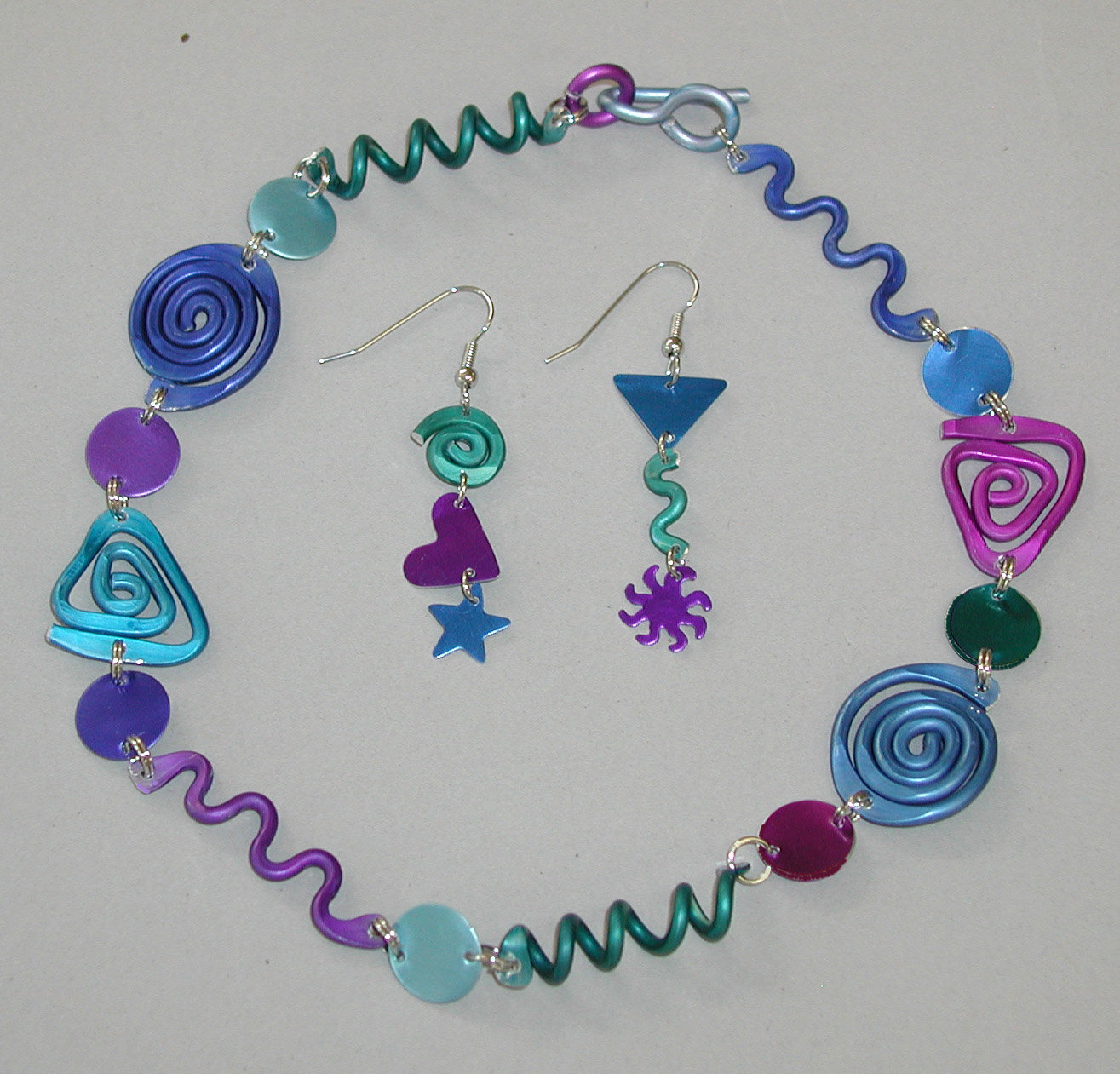 Cool Color Set by Sylvi Harwin (Aluminum Jewelry)   Artful Home