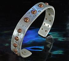 Copper Rivet Bracelet by Allan Mason (Silver & Copper Bracelet)