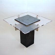 Hematite Table by John Nalevanko (Wood & Stone Table)