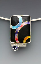 Small Rings Pendant by Anna Tai (Enameled Necklace)