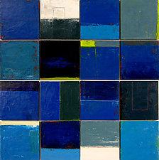 Beach Town Tile Set by Graceann Warn (Oil Painting)