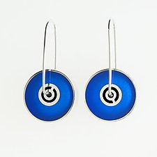 Spinner Earrings by Victoria Varga (Silver & Resin Earrings)
