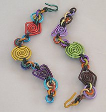 Bracelet in Rubber & Aluminum by Sylvi Harwin (Aluminum Bracelet)