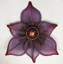 Six Point Flower Brooch by Sarah Cavender (Metal Brooch)