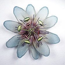 Passion Flower Brooch by Sarah Cavender (Metal Brooch)