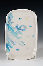 Porcelain Snowflake Tray by Carol Barclay (Ceramic Tray)