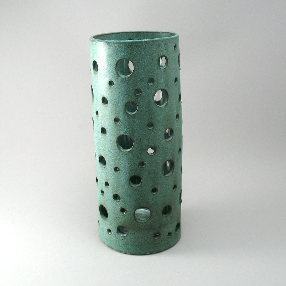 Bubble Vase In Weathered Bronze Finish By Cheryl Wolff