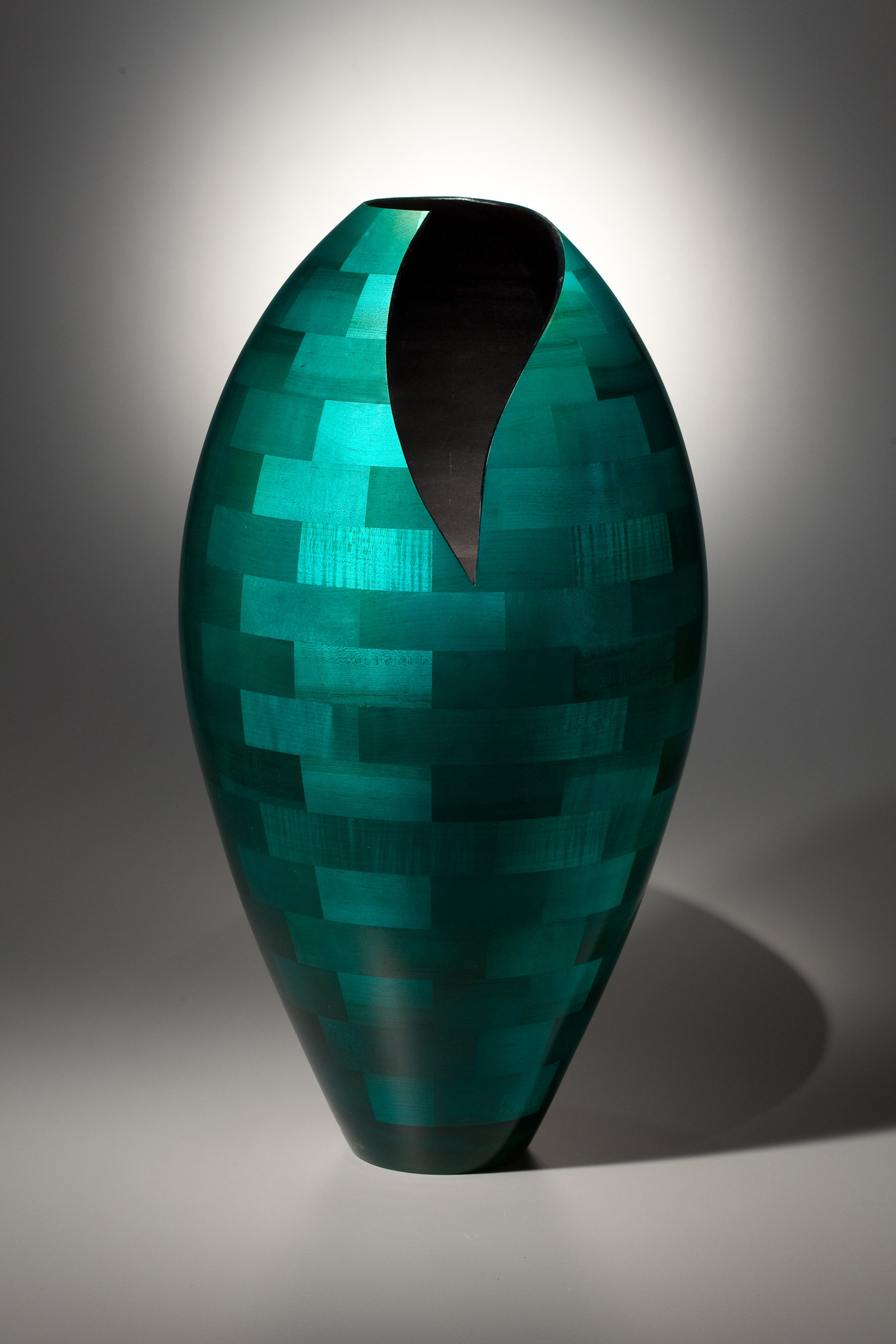 Floor Vase With Deep Vee By Joel Hunnicutt Wood Sculpture