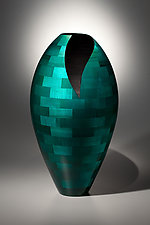 Floor Vase with Deep Vee by Joel Hunnicutt (Wood Sculpture)