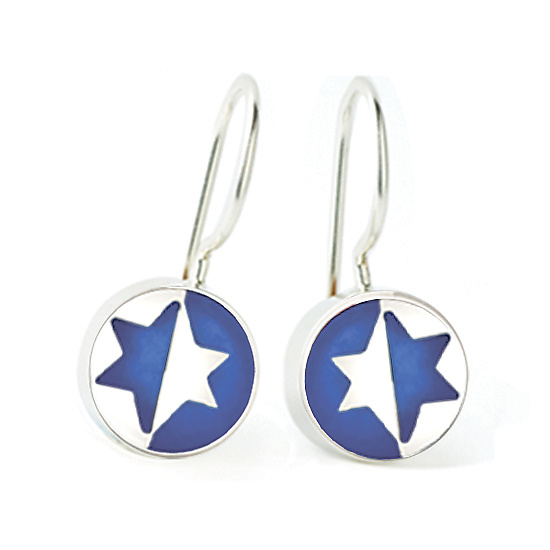 Jewish Star Earrings By Victoria Varga Silver Resin Artful Home