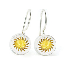 Fireball Earrings by Victoria Varga (Silver & Resin Earrings)