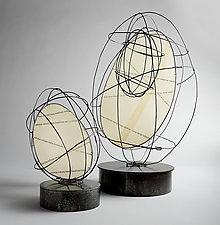 Egg Sculptures by Ken Girardini and Julie Girardini (Metal Sculpture)