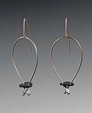 Jada Earrings by Kathleen Nowak Tucci (Steel & Rubber Earrings)
