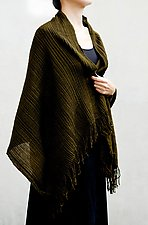 Pleated Wool Stole by Yuh  Okano (Wool Scarf)