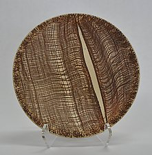 Wood Grain Bowl by Kelly Jean Ohl (Ceramic Bowl)