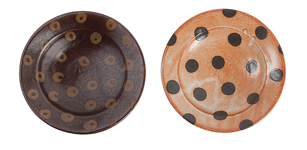 Patterned Stoneware: Pasta and Salad Bowls in Dot and Donut