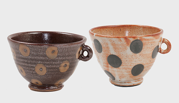 Patterned Stoneware: Soup and Latte Bowls in Dot and Donut
