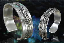 River Canyon and Ridgeline Bracelet Set by Allan Mason (Silver Bracelets)