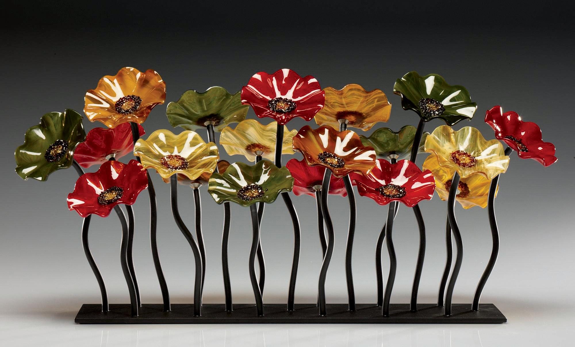Breckenridge Glass Flower Garden By Scott Johnson And