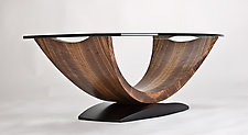 Arc Coffee Table by Enrico Konig (Wood Coffee Table)