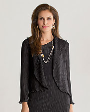 Tiny Box Pleats Jacket by Heydari  (Pleated Jacket)