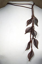 Leaf Lariat by Sarah Cavender (Metal Necklace)