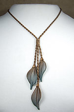 3-Leaf Dangle Necklace by Sarah Cavender (Metal Necklace)