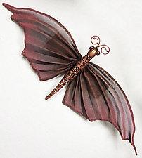 Oriental Moth by Sarah Cavender (Metal Brooch)