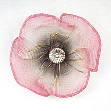 Poppy Pin by Sarah Cavender (Metal Brooch)