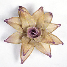 Water Lily Brooch by Sarah Cavender (Metal Brooch)