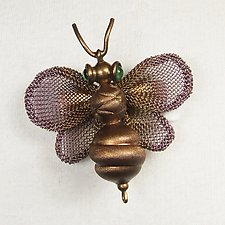 Bumble Bee Brooch by Sarah Cavender (Metal Brooch)