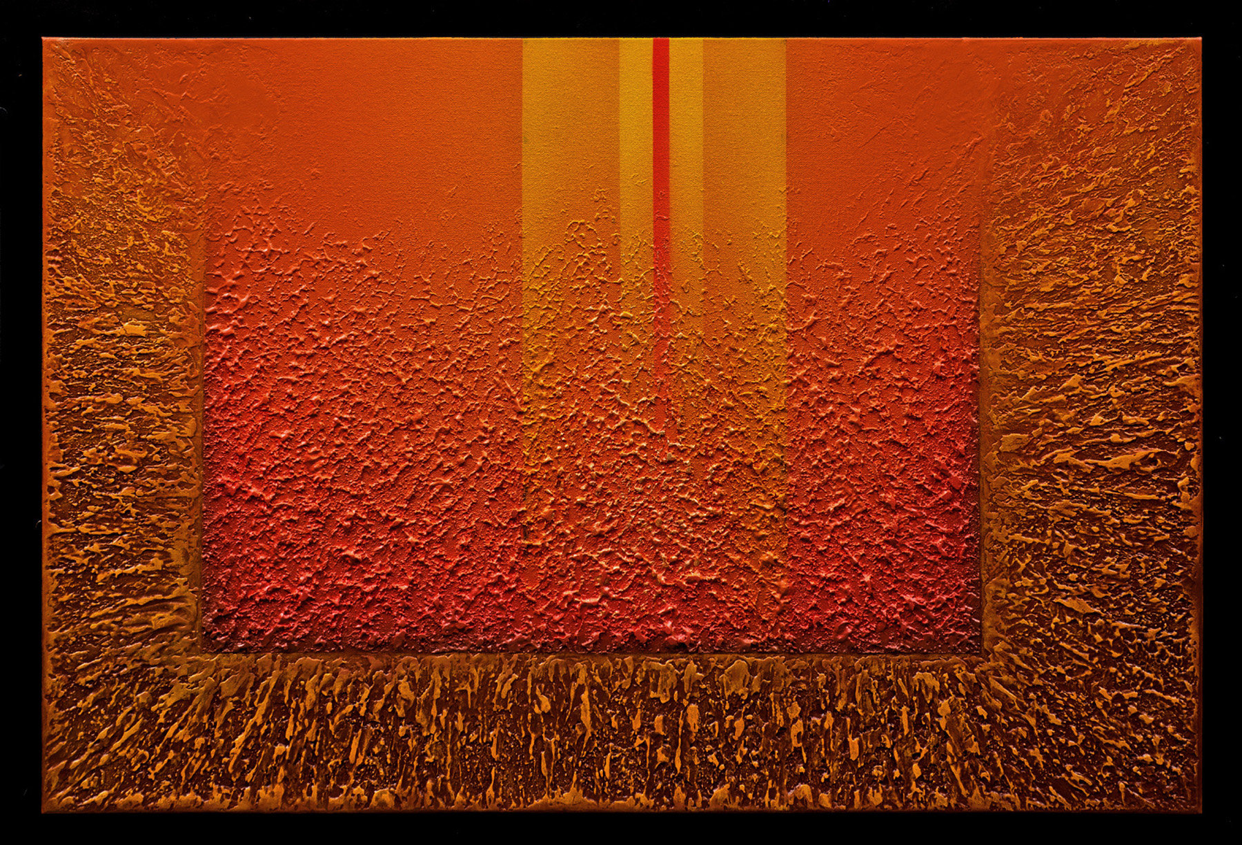 Radiant textures series 12 by wolfgang gersch acrylic for Acrylic mural painting techniques