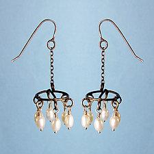 Chandelier Earrings by Randi Chervitz (Silver & Pearl Earrings)