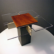 Kauri Wood Table by John Nalevanko (Wood Side Table)